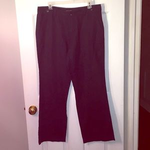 Banana Republic Navy blue linen pants size 8.